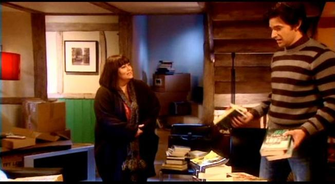 vicar of dibley   the armitage effectthe handsome stranger surrounded by stacks of books as he meets his new neighbors in the eccentric village of dibley  a funny  sweet  sexy fellow who also