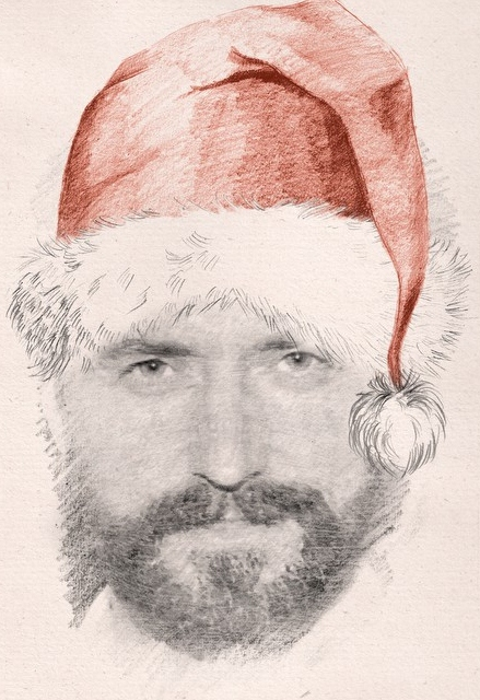 Bearded Armitage Santa wishes you a very Merry Christmas!