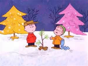 Pig Pen and Charlie with his homely little tree.