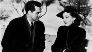 "Cary Grant and Loretta Young in ""The Bishop's Wife."""