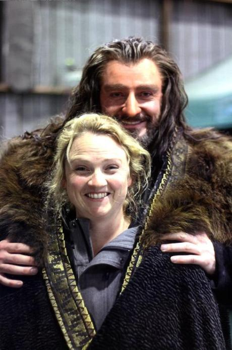 Richard Armitage and the woman who transformed him into Thorin for more than 250 days, Oscar Nominee Tami Lane.