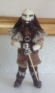 This darling knitted version of Dwalin looks squeezably soft. We need one for Thorin, too!