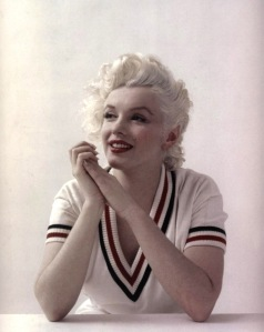 The most iconic of the platinum blondes, the often imitated, but never duplicated Norma Jean Baker, better known as Marilyn Monroe.