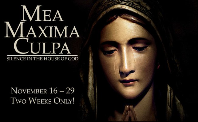 The poster for Mea Maxima Culpa during its theatrical release last year. Courtesy of Bing Images