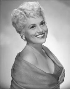 "Judy Holliday, the perennial dumb blonde in comedic roles in classics such as ""Adam's Rib."""