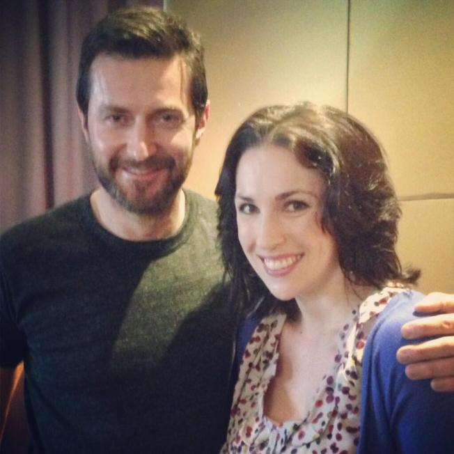 Richard Armitage with Alice Tynan in a photo she tweeted a short time ago.