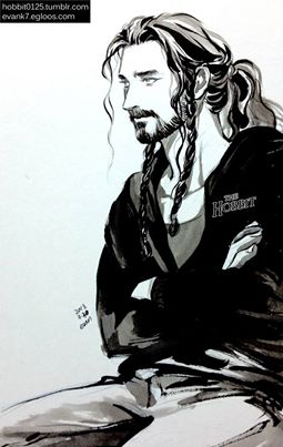 I think this is by evank, the same artist who gave us that lovely smiling portrait of casual Thorin. ;)