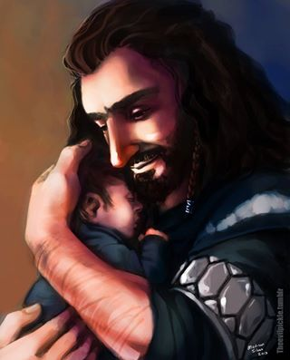 Courtesy of the evil pickle at tumblr. A proud uncle holding his baby nephew. Awwww.