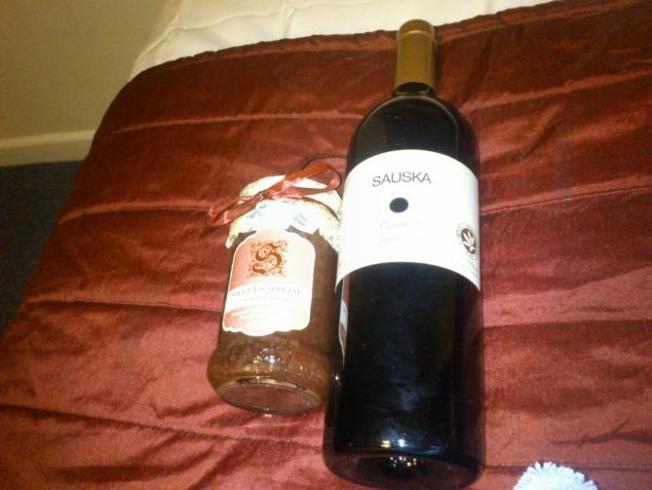 wine and jam