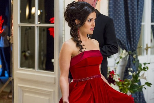 Danica McKellar as the spirited American whisked away to a royal castle to serve as a governess to a little princess.